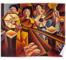 Trad session 2 interior with structured musicians Poster