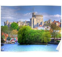 Windsor Castle and the River Thames - HDR Poster