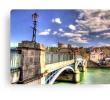 Old Windsor Bridge - HDR Canvas Print