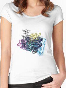 Graffiti :) Women's Fitted Scoop T-Shirt