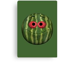Watermelon Smiley Canvas Print
