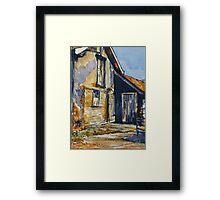 Rural farm, Tuscany. Watercolour. Framed. 32x23cm Framed Print