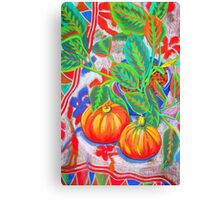 Still Life with Pumpkins Canvas Print