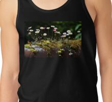 Daisies growing on a mossy wall... Tank Top