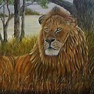 """African Lion"" - oil painting by Avril Brand"