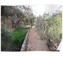 Aqueduct Walk in Werribee Gorge State Park-two Poster