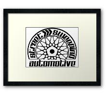 Street Sweeping Automotive Logo Framed Print