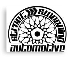 Street Sweeping Automotive Logo Canvas Print