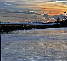 Sunset Pastels on the Bridge by bazcelt