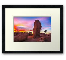 Joshua Tree Sunset Jumbo Rocks Framed Print