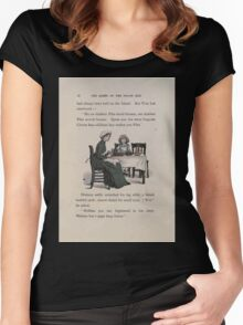 The Queen of Pirate Isle Bret Harte, Edmund Evans, Kate Greenaway 1886 0022 Tea Women's Fitted Scoop T-Shirt