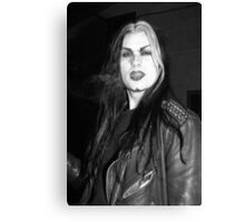 Smoking Goth Canvas Print
