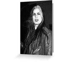 Smoking Goth Greeting Card