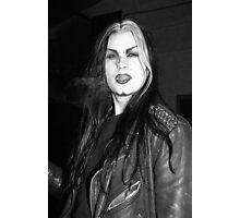 Smoking Goth Photographic Print