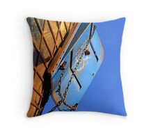 Blue in blue Throw Pillow