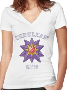 Cerulean Gym Women's Fitted V-Neck T-Shirt