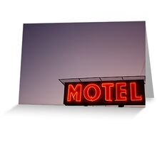 motel; revisited Greeting Card