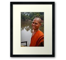 The Happy Monk Framed Print