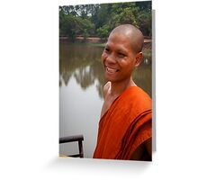 The Happy Monk Greeting Card