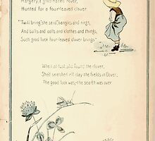 The Glad Year Round for Boys and Girls by Almira George Plympton and Kate Greenaway 1882 0028 Sunny Dover Four Leaf Clover by wetdryvac