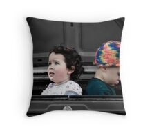 ...for a moment we're strangers... Throw Pillow