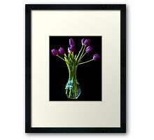 The purple bunch Framed Print