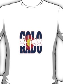 Colorado State flag typography T-Shirt