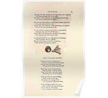 LIttle Ann and Other Poems by Jane and Ann Taylor art Kate Greenaway 1883 0063 The Village Green Poster
