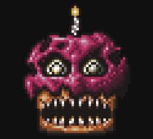 Five Nights at Freddys 4 - Nightmare Cupcake - Pixel art One Piece - Long Sleeve