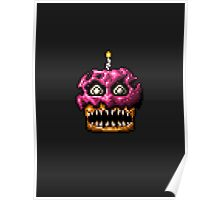 Five Nights at Freddys 4 - Nightmare Cupcake - Pixel art Poster