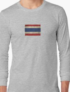 Old and Worn Distressed Vintage Flag of Thailand Long Sleeve T-Shirt