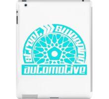 Street Sweeping Automotive Logo torquoise iPad Case/Skin