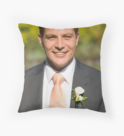 The groom Throw Pillow
