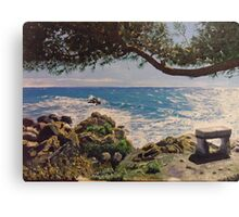 The sealovers bench - Ventimiglia (Italy) Canvas Print