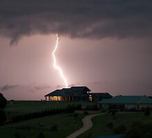 House hit by lightning by Paul Simpson