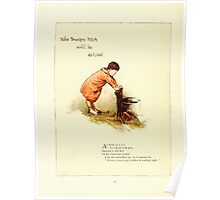 Old Proverbs with New Pictures Lizzie Laweson and Clara Mateaux 1881 0062 Who Touches Pitch Will Be Defiled Poster