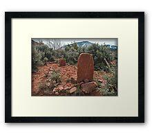 Monuments in the Desert Framed Print