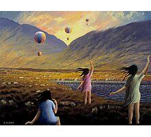 Balloon children Photographic Print