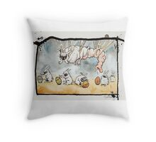Where do easter eggs come from? Throw Pillow