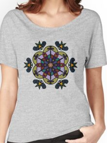 Stained Glass Flower Women's Relaxed Fit T-Shirt