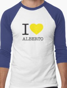 I ♥ ALBERTO Men's Baseball ¾ T-Shirt