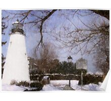 Concord Point Lighthouse_Snow Poster