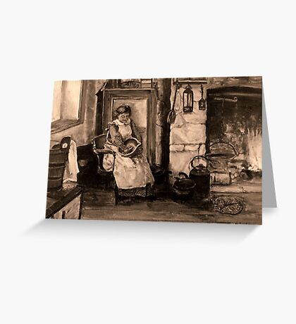 Miners Wife.... Greeting Card