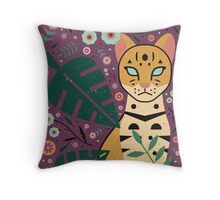 Ocelot Cub Throw Pillow