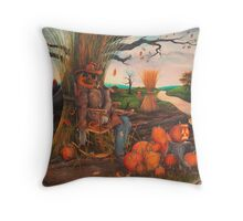 """The Pumpkin Man"" Throw Pillow"