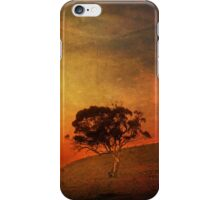 Sunset Textured Tree Landscape iPhone Case/Skin