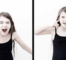 Diptych portraits in interaction #1 : the yell by Richard Vantielcke
