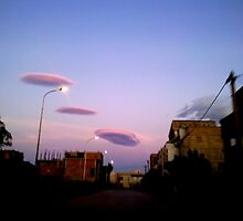 UFO Clouds  by Omar Dakhane