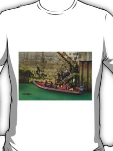 Boarding The Dive Boat, Newquay Harbour T-Shirt