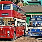 English Buses - Red, White and Blue by missmoneypenny